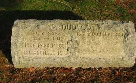 PROUDFOOT, PARKER - Lorain County, Ohio | PARKER PROUDFOOT - Ohio Gravestone Photos
