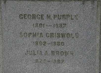 GRISWOLD PURPLE, SOPHIA - Lorain County, Ohio   SOPHIA GRISWOLD PURPLE - Ohio Gravestone Photos