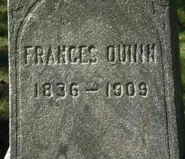 QUINN, FRANCES - Lorain County, Ohio | FRANCES QUINN - Ohio Gravestone Photos