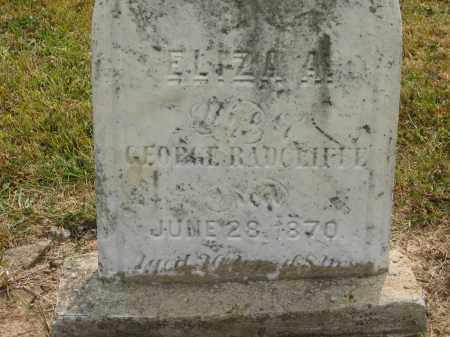RADCLIFFE, ELIZA A. - Lorain County, Ohio | ELIZA A. RADCLIFFE - Ohio Gravestone Photos