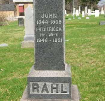 RAHL, FREDRICKA - Lorain County, Ohio | FREDRICKA RAHL - Ohio Gravestone Photos