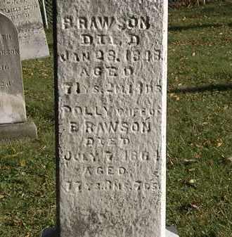 RAWSON, B. - Lorain County, Ohio | B. RAWSON - Ohio Gravestone Photos