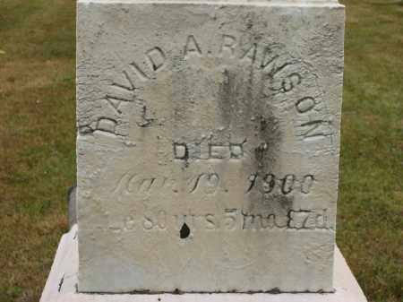 RAWSON, DAVID A. - Lorain County, Ohio | DAVID A. RAWSON - Ohio Gravestone Photos