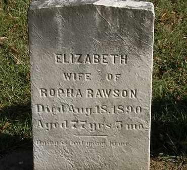 RAWSON, ROPHA - Lorain County, Ohio   ROPHA RAWSON - Ohio Gravestone Photos