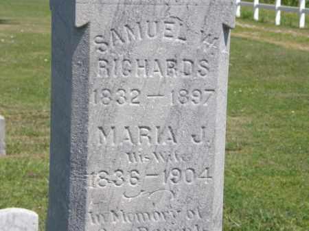RICHARDS, MARIA J. - Lorain County, Ohio | MARIA J. RICHARDS - Ohio Gravestone Photos