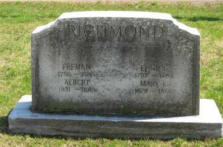 RICHMOND, FREEMAN - Lorain County, Ohio | FREEMAN RICHMOND - Ohio Gravestone Photos