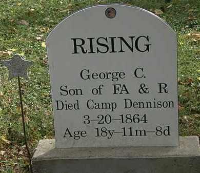 RISING, R. - Lorain County, Ohio | R. RISING - Ohio Gravestone Photos