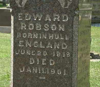 ROBSON, EDWARD - Lorain County, Ohio | EDWARD ROBSON - Ohio Gravestone Photos