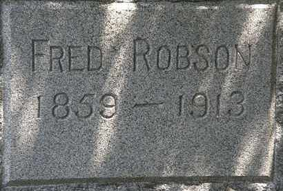 ROBSON, FRED - Lorain County, Ohio   FRED ROBSON - Ohio Gravestone Photos