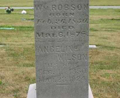 ROBSON, ANGELINE - Lorain County, Ohio   ANGELINE ROBSON - Ohio Gravestone Photos