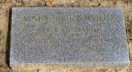 ROCKWOOD, MARY - Lorain County, Ohio | MARY ROCKWOOD - Ohio Gravestone Photos