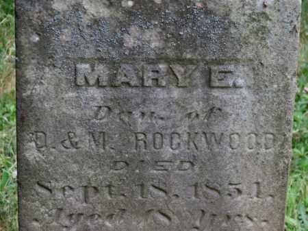 ROCKWOOD, MARY E. - Lorain County, Ohio   MARY E. ROCKWOOD - Ohio Gravestone Photos