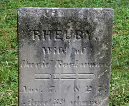 ROCKWOOD, RHEUBY - Lorain County, Ohio   RHEUBY ROCKWOOD - Ohio Gravestone Photos