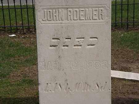 ROEMER, JOHN - Lorain County, Ohio | JOHN ROEMER - Ohio Gravestone Photos