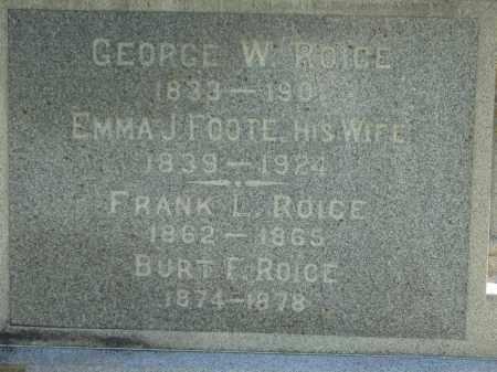 ROICE, GEORGE - Lorain County, Ohio | GEORGE ROICE - Ohio Gravestone Photos