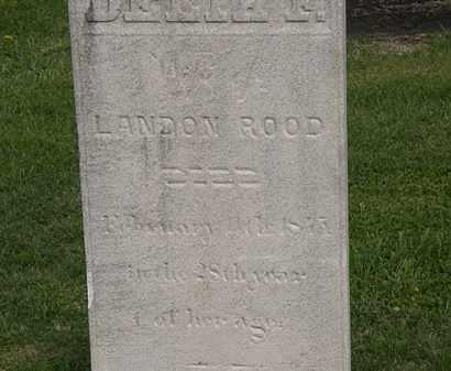 ROOD, DELIA F. - Lorain County, Ohio | DELIA F. ROOD - Ohio Gravestone Photos