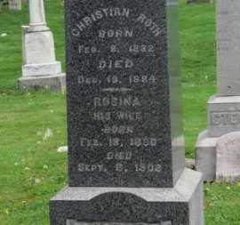ROTH, ROSINA - Lorain County, Ohio | ROSINA ROTH - Ohio Gravestone Photos