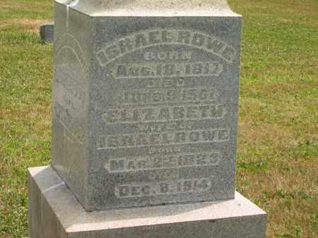 ROWE, ELIZABETH - Lorain County, Ohio | ELIZABETH ROWE - Ohio Gravestone Photos