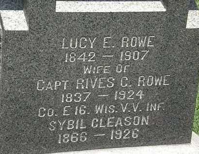 ROWE GLEASON, SYBIL - Lorain County, Ohio | SYBIL ROWE GLEASON - Ohio Gravestone Photos