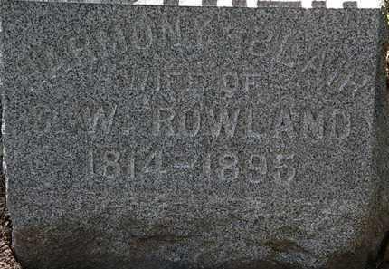 ROWLAND, HARMONY - Lorain County, Ohio | HARMONY ROWLAND - Ohio Gravestone Photos