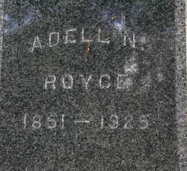 ROYCE, ADELL N. - Lorain County, Ohio | ADELL N. ROYCE - Ohio Gravestone Photos