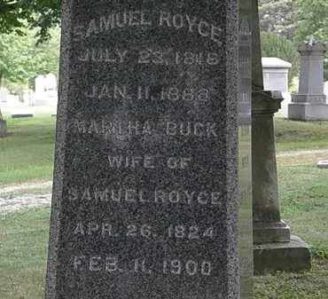 ROYCE, MARTHA - Lorain County, Ohio | MARTHA ROYCE - Ohio Gravestone Photos