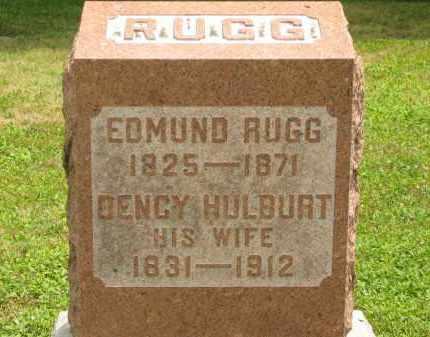 HULBURT RUGG, DENCY - Lorain County, Ohio | DENCY HULBURT RUGG - Ohio Gravestone Photos