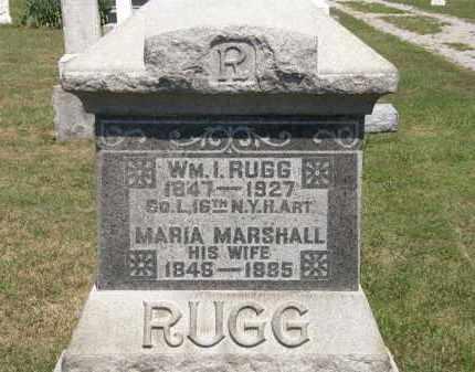 RUGG, WM. I - Lorain County, Ohio | WM. I RUGG - Ohio Gravestone Photos