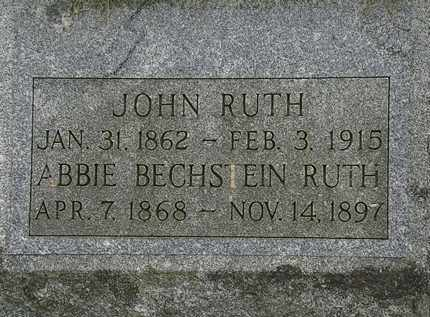 RUTH, JOHN - Lorain County, Ohio | JOHN RUTH - Ohio Gravestone Photos