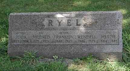RYEL, FRANKLIN - Lorain County, Ohio | FRANKLIN RYEL - Ohio Gravestone Photos