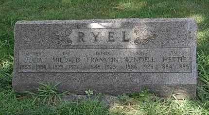 RYEL, WENDELL - Lorain County, Ohio | WENDELL RYEL - Ohio Gravestone Photos