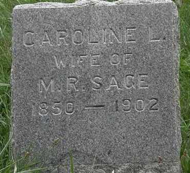 SAGE, CAROLINE L. - Lorain County, Ohio | CAROLINE L. SAGE - Ohio Gravestone Photos