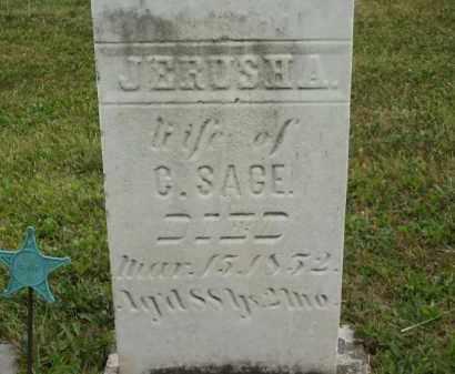 SAGE, JERUSHA - Lorain County, Ohio   JERUSHA SAGE - Ohio Gravestone Photos