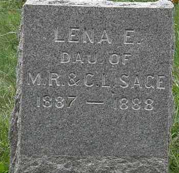 SAGE, C.L. - Lorain County, Ohio   C.L. SAGE - Ohio Gravestone Photos