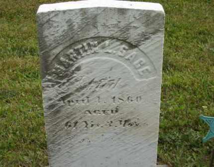 SAGE, MARTIN L - Lorain County, Ohio   MARTIN L SAGE - Ohio Gravestone Photos