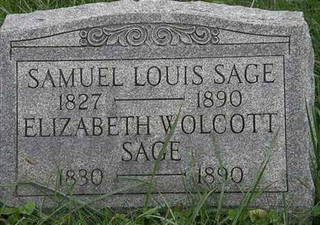 SAGE, SAMUEL LOUIS - Lorain County, Ohio | SAMUEL LOUIS SAGE - Ohio Gravestone Photos