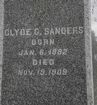 SANDERS, CLYDE G. - Lorain County, Ohio | CLYDE G. SANDERS - Ohio Gravestone Photos
