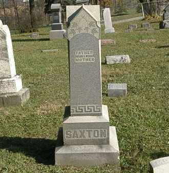 SAXTON, MARKER - Lorain County, Ohio   MARKER SAXTON - Ohio Gravestone Photos