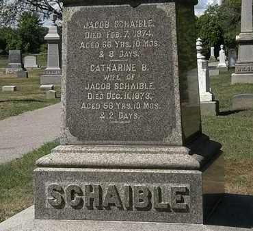 SCHAIBLE, JACOB - Lorain County, Ohio   JACOB SCHAIBLE - Ohio Gravestone Photos
