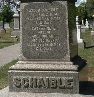 SCHAIBLE, CATHARINE B. - Lorain County, Ohio | CATHARINE B. SCHAIBLE - Ohio Gravestone Photos