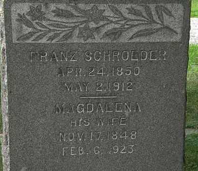 SCHROEDER, FRANZ - Lorain County, Ohio   FRANZ SCHROEDER - Ohio Gravestone Photos