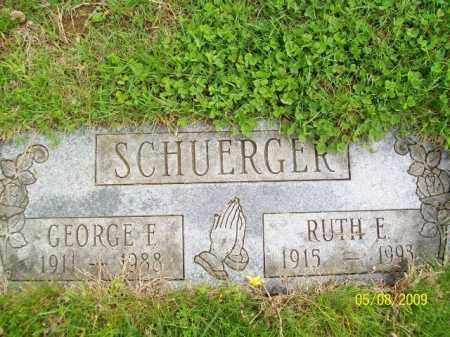 SCHUERGER, GEORGE F. - Lorain County, Ohio | GEORGE F. SCHUERGER - Ohio Gravestone Photos