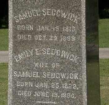 SEDGWICK, EMILY E. - Lorain County, Ohio   EMILY E. SEDGWICK - Ohio Gravestone Photos