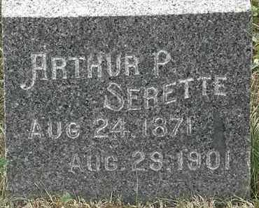SERETTE, ARTHUR P. - Lorain County, Ohio   ARTHUR P. SERETTE - Ohio Gravestone Photos