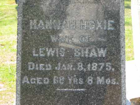 HOXIE SHAW, HANNAH - Lorain County, Ohio | HANNAH HOXIE SHAW - Ohio Gravestone Photos
