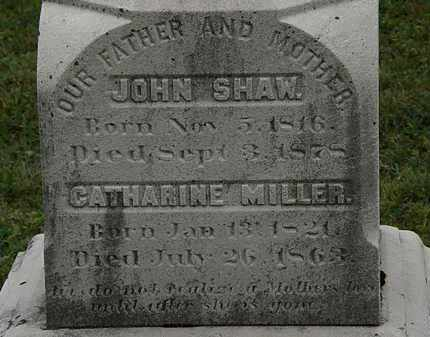 MILLER SHAW, CATHARINE - Lorain County, Ohio | CATHARINE MILLER SHAW - Ohio Gravestone Photos