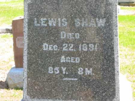 SHAW, LEWIS - Lorain County, Ohio   LEWIS SHAW - Ohio Gravestone Photos