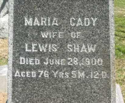 SHAW, MARIA - Lorain County, Ohio   MARIA SHAW - Ohio Gravestone Photos