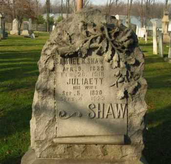 SHAW, JULIAETT - Lorain County, Ohio | JULIAETT SHAW - Ohio Gravestone Photos