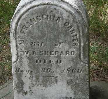 CARTER SHEPARD, FRANCENIA - Lorain County, Ohio | FRANCENIA CARTER SHEPARD - Ohio Gravestone Photos